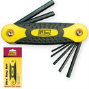 5 Pc. Folding Hex Key Set - English