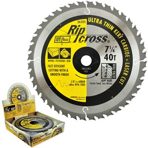 "7-1/4"" 40T Ripcross Carbide Blade"