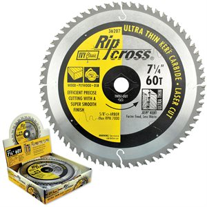"7-1/4"" 60T Ripcross Carbide Blade"