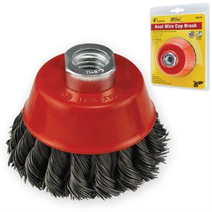 "4"" Knot Wire Cup Brush 5/8-11 Arbor"