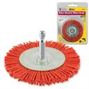 "3"" Nylon Abrasive Wheel Brush 1/4"" Shank"