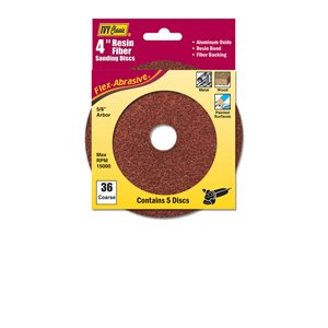 "4"" Resin Fiber Disc 36 Grit AL"