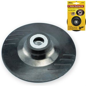 "4"" Rubber Backing Pad M10x1.25mm Nut - Replaced by Item 42380"